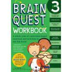现货 英文原版 大脑任务 练习册 三年级 带粘纸 Brain Quest Workbook Grade 3 认知智力开
