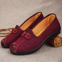 奶奶鞋春季透气中老年妈妈单鞋软底舒适休闲鞋老北京布鞋女