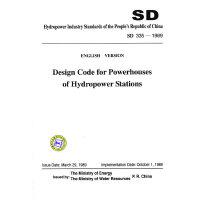 水电站厂房设计规范 SD 335-89 (英文版)