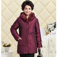 反季中老年人羽绒服女中长款妈妈装加厚老人活里活面60--80岁外套
