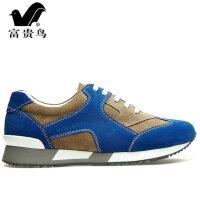 富贵鸟运动休闲旅游鞋春秋户外潮流板鞋子男士真皮鞋英伦跑步男鞋A438502