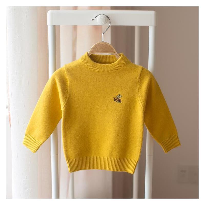 打底秋冬贴身穿的羊毛衫黑色毛衣婴儿小童女宝宝一三1-3周岁冬天2