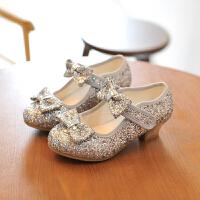 女童皮鞋春秋季儿童高跟单鞋拉丁舞演出鞋公主鞋