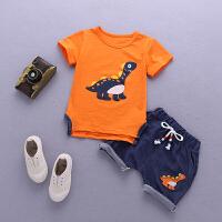 恐龙童装宝宝夏装男潮男童短袖套装婴儿夏季衣服两件套