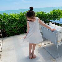 女童背心裙夏装裙子海边度假白色沙滩裙