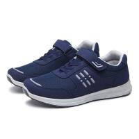 爸爸鞋夏季透气网面休闲鞋舒适软底户外登山单网鞋男士老北京布鞋