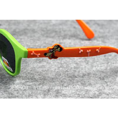 儿童软腿女童偏光太阳镜 防紫外线墨镜男童宝宝小女孩眼镜3岁
