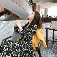 安妮纯配大衣内搭金丝绒连衣裙女装2019新款潮流行打底仙女长裙女秋冬