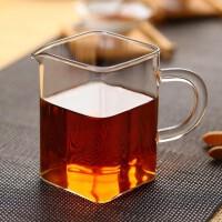 耐高温玻璃花茶茶海功夫茶具公道杯分茶器方形公杯工艺茶具250ML