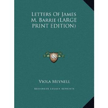 【预订】Letters of James M. Barrie 预订商品,需要1-3个月发货,非质量问题不接受退换货。
