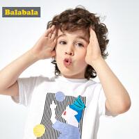 巴拉巴拉童装男童短袖t恤潮童宝宝夏装2019新款儿童简约印花上衣