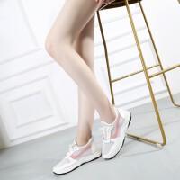 2018新款夏季小白鞋女学院风百搭镂空透气网面运动鞋韩版休闲网鞋 白色(偏大一码) 36