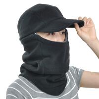 抓绒帽 护耳帽男士保暖帽骑车帽子女户外防风蒙面帽口罩套头帽