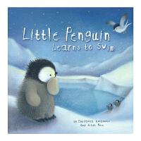 Little Penguin Learns to Swim 小企鹅学游泳 学会勇敢 儿童睡前英文原版故事绘本