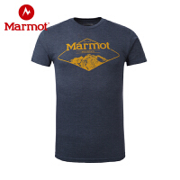 Marmot/土拨鼠春夏户外透气圆领宽松棉短袖男T恤