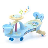 小孩子男女儿童扭扭车万向轮带音乐静音轮宝宝摇摆车1-3-6岁玩具妞妞车滑行溜溜车