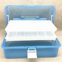 小学生美术工具箱画画手提大号透明塑料盒美甲家用绘画