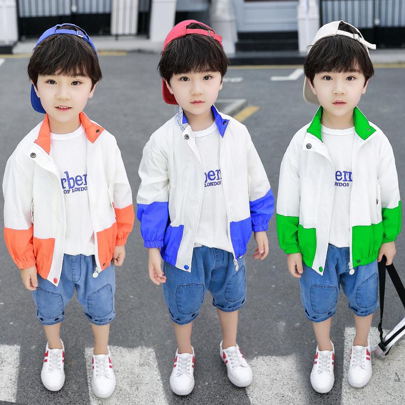 男童运动夹克外套儿童休闲服女宝宝防晒衣