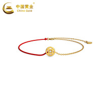 中国黄金黄金手链有钱钻转运珠钻石手链女金手链珠宝首饰定价
