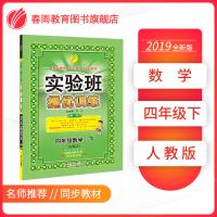 实验班提优训练 小学 数学 四年级 (下) 人教版RMJY  春雨教育・2019春