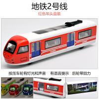 顾馨 儿童玩具合金仿真绿皮火车模型蒸汽玩具车地铁动车高铁和谐号男孩