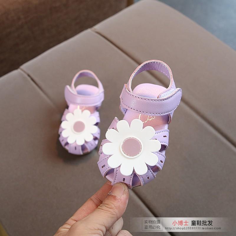 儿童鞋小女孩凉鞋女宝宝夏季1-3岁2防滑软底女童皮鞋公主学步鞋子