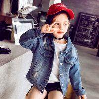 女童牛仔外套 女童时尚上衣2020秋季新款韩版女孩儿童中大童洋气短款时髦牛仔衣