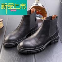 新品上市男士靴男皮靴19冬季高帮工装韩版潮流马丁靴短靴棉鞋