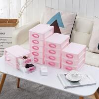 收�{盒 �k公室桌面收�{盒�s物迷你收�{塑料盒子2019�W式整理塑料�盒公具收�{柜子