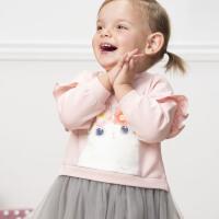 davebella戴维贝拉女童连衣裙春季2020新款宝宝洋气裙子DBM12761