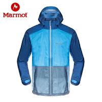 Marmot/土拨鼠户外春秋薄款男士冲锋衣防水透气全压胶外套