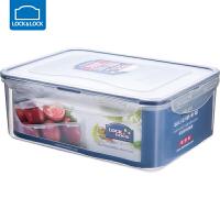 乐扣乐扣保鲜盒塑料微波炉饭盒密封盒便携便当盒水果盒 2600ml 长方形