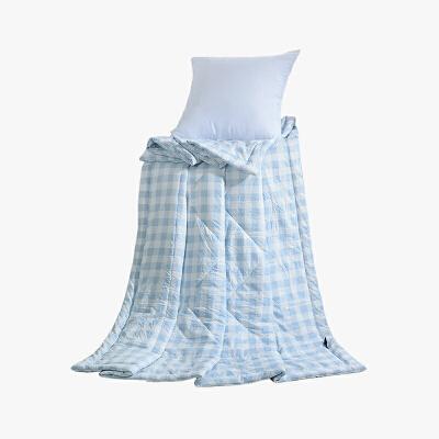 当当优品家纺 水洗棉裸睡夏凉被 150x200双人空调被 俏丽(蓝)当当自营 柔软舒适水洗棉 水洗机洗不变形