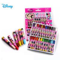 正品迪士尼 24色油画棒 儿童蜡笔 米奇绘画彩笔 安全无毒