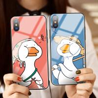 苹果xs max手机壳iPhonexr情侣8plus玻璃iPhonex全包防摔6s硅胶i7网红鸭pl 两件装更优惠 拍