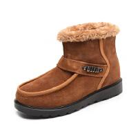奥康男鞋冬季加绒保暖雪地靴男士高帮保暖棉靴