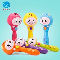 益智早教玩具0-1-3岁新生儿婴儿宝宝手拿音乐棒手摇铃沙锤摇摇乐