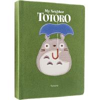 英文原版 龙猫 绿绒面笔记本 My Neighbor Totoro Journal 宫崎骏电影周边礼品书 吉卜力工作室