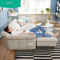 北欧简约现代沙发床小户型布艺沙发三人客厅整装家具1012 3pn
