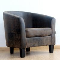 网吧沙发椅 单人位 布艺小沙发双人卧室现代简约懒人沙发椅 乳白色 黑复古