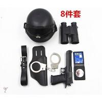 儿童黑猫警长玩具枪套装小特警装备男女童小警察交警大盖帽对讲机 官方标配