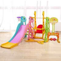 20190129192540578儿童室内滑梯家用多功能滑滑梯宝宝组合滑梯秋千塑料玩具加厚