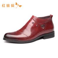 红蜻蜓时尚新款春季商务皮鞋男WTA7660--