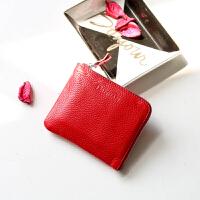零钱包女短款新款真皮学生韩版可爱迷你薄款钱夹头层牛皮卡包