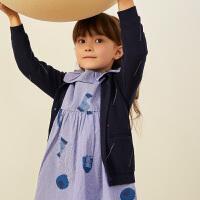 【2件2.5折:89元】马拉丁童装女童新款秋装时尚趣味满印毛衣开衫宽松舒适套头衫