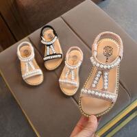 夏季女童凉鞋宝宝露趾公主鞋小中童防滑