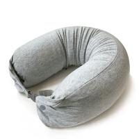 泰乳胶颗粒U型护颈枕头U形午休趴睡枕颈椎U枕飞机旅行靠枕y