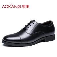 奥康男鞋商务正装皮鞋制式校尉常服军官皮鞋男士三接头皮鞋男