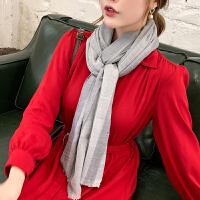上海故事100%羊毛围巾女薄款披肩丝巾春秋妈妈款百搭冬季保暖围巾