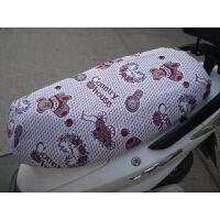 电动车坐垫套踏板电动车座套防晒四季通用亚麻电摩座套生活日用创意家居